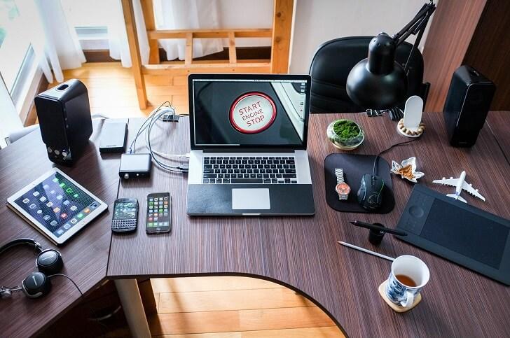 Digital electronics on table