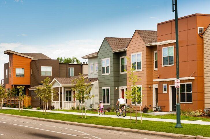 Row of houses in Denver Colorado