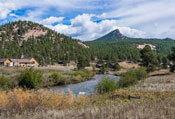 pine colorado river lake mountains